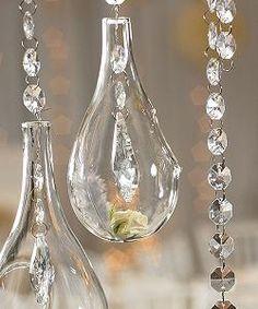 Hanging glass balls #weddingreception #whitewedding #weddingnispiration #weddingdecor