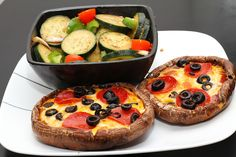 Oven-Baked Extra Large Portabello Mushroom pizza.