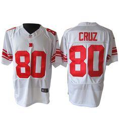 2012 NIKE Elite New York Giants 80 Cruz White jersey  ID: 8899    US  $23