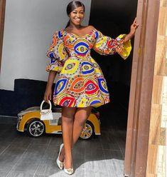 120 Ankara Short Gown Styles Designs 2020 | ThriveNaija African Fashion Ankara, African Inspired Fashion, Latest African Fashion Dresses, African Print Fashion, Fashion Prints, Short African Dresses, African Print Dresses, African Clothes, Ankara Short Gown Styles