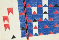 Alfredo Volpi, Bandeirinhas com mastro, década de 70