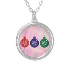 Christmas Baubles Custom Necklace  #Christmas #Baubles #Necklace #Pendant
