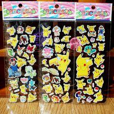1 Piece Funny Foam Cartoon 3D Sticker Cute Pikachu Stickers Best Gift for Children Kids Baby boys and Girls Gift