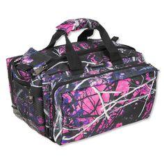 Bulldog Tactical Deluxe Range Bag 13 X7 Nylon Pink Muddy Camo