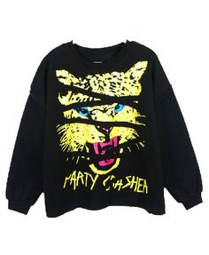 Plush Sweatshirt with Leopard Print