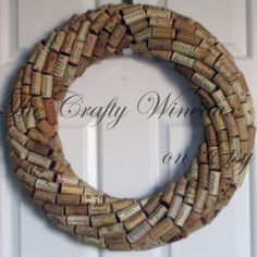 "Large 19"" Handmade Wine Cork Wreath Without Grapes - The Crafty Wineaux"