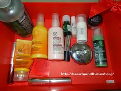I was recently organising my closet and found out so many Body Shop products. The Body Shop products take half space of my makeup closet.