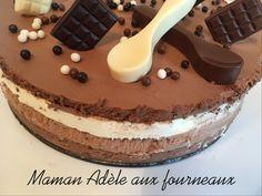 L'année dernière pour l'anniversaire de mon mari j'avais créé un gâteau au chocolat avec 3 textures : fondant avec la génoise, croquant avec la Pralinoise aux crêpes dentelles et …