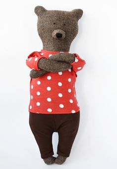 $50 - Patrick The Bear was made by hand, when using natural fabrics that do not cause allergies. Materials - tweed, cotton, jersey. ▼ High - 1,37 feet