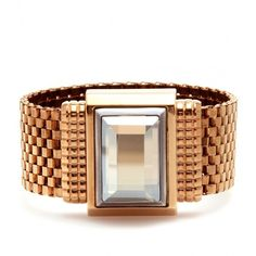 Lanvin Mesh Bracelet With Crystal ❤ liked on Polyvore
