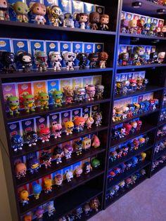 Funko Pop Shelves, Funko Pop Display, Shelf Display, Funko Pop Toys, Funko Pop Vinyl, Marvel Room, Geek Room, Funk Pop, Video Game Rooms