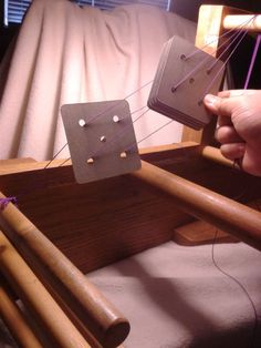 Tablet weaving, warping pt. 2 | The Rampant Hedgehog: to help out when I start using my cards.