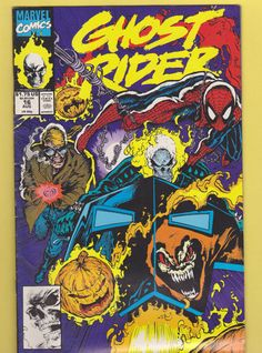 Ghost Rider #16 Published by Marvel August 1991 (with Spider Man)