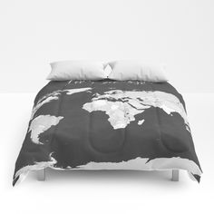 Dusty pink and grey detailed watercolor world map comforters my lets get lost chalkboard world map comforters gumiabroncs Image collections