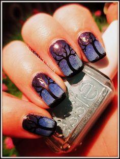 Blaue Stunde - Nail Art - Angelina´s Nails & More