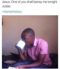 """Judas: """"not me"""" Church Memes, Church Humor, Catholic Memes, Funny Christian Memes, Christian Humor, Christian Girls, Christian Life, Haha Funny, Hilarious"""