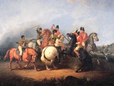 Battle of the Cowpens, South Carolina, of January 17, 1781 fought by Maryland and Virginia Continentals against the 7th Regiment of Foot, the Royal Fusileers. Hand to hand combat ensued. Rare print. -