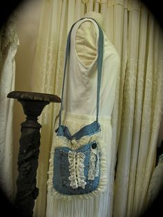 Hey, I found this really awesome Etsy listing at https://www.etsy.com/listing/112951062/tattered-denim-bag-handmade-hippie-boho