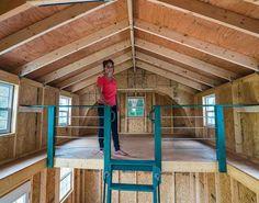 Best Barns Lakewood 1218 Wood Storage Shed Kit Diy Storage Shed Plans, Wood Storage Sheds, Wood Shed, Diy Shed, Craft Shed, Shed With Loft, Shed Loft, Cabin With Loft, Barn Loft