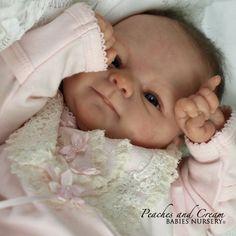 "Peaches And Cream ~ ""Coco Malu"" Elisa Marx Now Reborn Baby Girl Poppy ~Tum Plate   eBay"