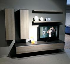 Compact floating entertainment unit for the smaller home.