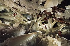 Cave of the Crystals, Mexico. I would love to use this location in the movie, but I think it' too hot! There's always CGI I guess.