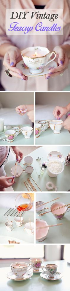 Tea-For-Two DIY Candles