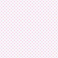 Free Digital Scrapbook Paper - Pink & White Polka Dots