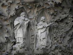 ángeles músicos (fachada de la Natividad, Iglesia de la Sagrada Familia, Barcelona)