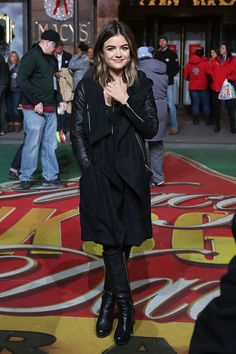 Lucy Hale attends the 88th Annual Macy's Thanksgiving Day Parade Rehearsals on November 25, 2014 in New York City.
