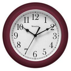 Westclox 9 in. Simplicity Wall Clock Red - 46983