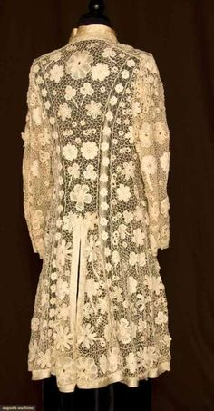 17 mar 12 [Irish Crochet Lace Coat    1905-1910    Augusta Auctions]