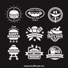 Emblemas Burger Vetor grátis                                                                                                                                                                                 Mais