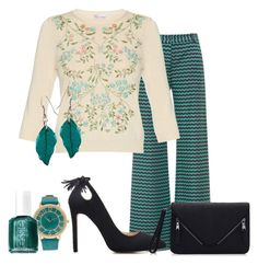 Untitled #313 by alliedrover on Polyvore featuring polyvore, fashion, style, RED Valentino, Missoni, Essie and clothing