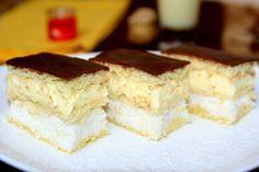 Prajitura cu vanilie si cocos Sweets Recipes, Cake Recipes, Coco, Food Inspiration, Tiramisu, Bakery, Cheesecake, Deserts, Food And Drink