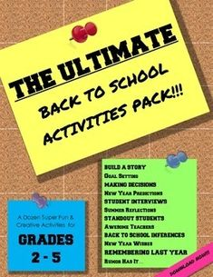 12 fun and creative activities to start the new school off on the right track!