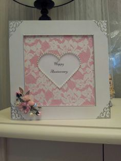 Frame Anniversary card by Pauline north