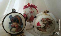 Декупаж - Сайт любителей декупажа - DCPG.RU | Как я готовилась к Новому году и что из этого вышло Christmas Decoupage, Christmas Balls, Jar, Ornaments, Blog, Decor, Christmas Baubles, Decoration, Blogging