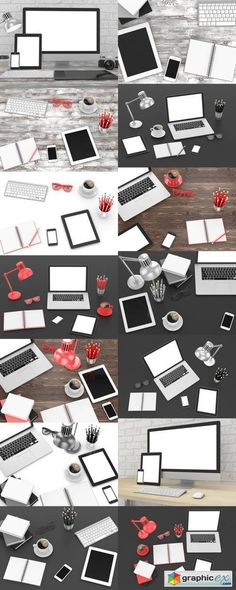 Office Workplace  Blank Mockup  stock images