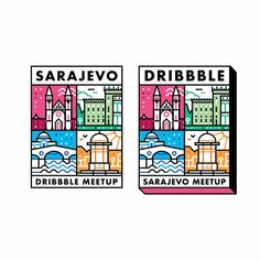 Left or Right? ◀️▶️ Sarajevo sticker ________________________________________________ #design #illustration #chicago #india #dribbble…