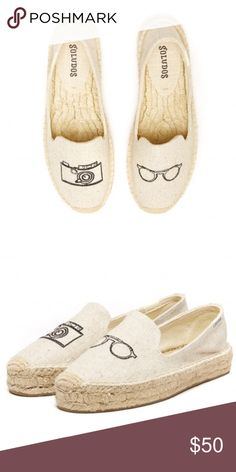 SOLUDOS PLATFORM SMOKING SLIPPER EMBROIDERY Size 8 Brand new in box. Soludos Shoes Slippers