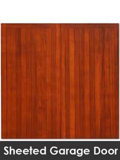Wooden door 27 - possible garage door idea, it can be painted to the colour of choice