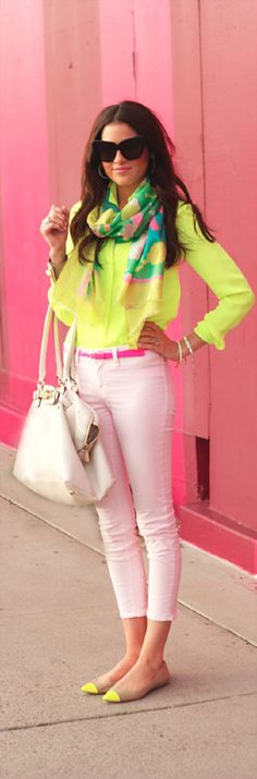 Worn Once $158 Ann Taylor Elizabeth Neon Light Yellow Pointy Cap Toe Flats 7 M | eBay