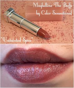 "Maybelline The Buffs Lipsticks ""Untainted Spice"", ""Stormy Sahara"" & ""Truffle Tease"": Lipstick Swatches, Makeup Swatches, Makeup Dupes, Lipstick Colors, Skin Makeup, Lip Colors, Maybelline Lipstick Shades, Coral Lipstick, Mac Lipsticks"