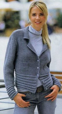 for inspiration, nice edgings at sleeves and bottom of cardi