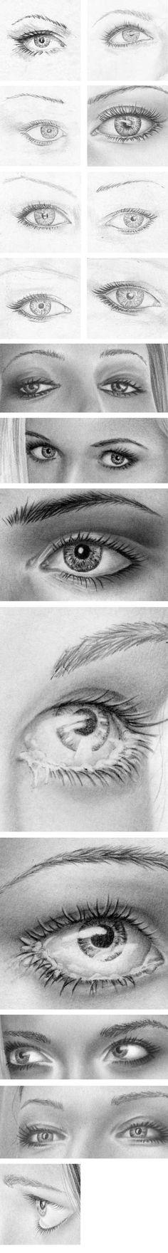 Zeichnen   lernen - Tutorial Augen, Pupille und Iris