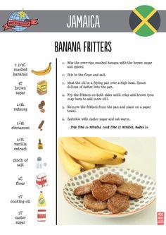 Banana Fritters   Jamaica   Around the World in 80 Days   Moomookachoo