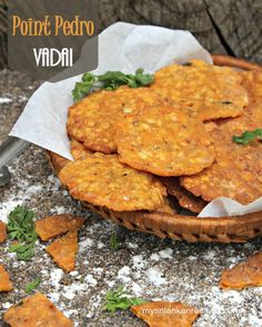 Vadai is a savory snack made from deep-fried lentils. Some they call it Paruthi Thurai vadai or point pedro vadai in Sri Lanka.