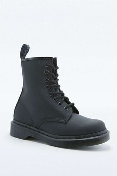 Dr. Martens Ajax 8-Eyelet Smooth Black Leather Boots