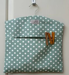 Madelaine Sage Peg Bag More Diy Sewing Projects, Sewing Hacks, Sewing Crafts, Laundry Pegs, Laundry Drying, Laundry Closet, Small Laundry, Laundry Rooms, Clothespin Bag
